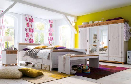 Helsinki/Malta von Euro Diffusion - Schlafzimmer Weiß/Antik