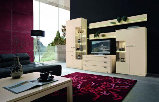 Lodano von Rietberger - Wohnwand 36005 Lack Crema