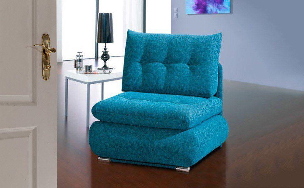 Dieser Sessel kann zum Bett umfunktioniert werden