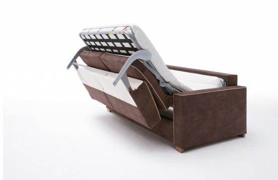 Das Schlafsofa bietet sowohl ausgezeichneten Sitz- als auch Liegekomfort