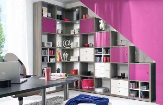 in modernem Pink und Weiß