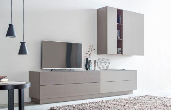 Monochrom einrichten in grau online m bel magazin for Graue wohnwand