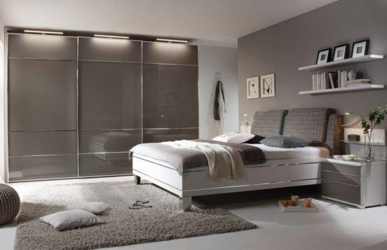 grau-weißes Schlafzimmer Sinfonie Plus von Staud