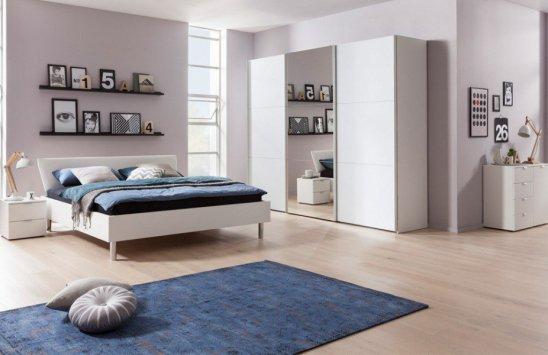 Express Möbel Schlafzimmerset Stars Design & Carina in Polarweiß