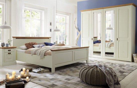 Gomab Schlafzimmergarnitur Nordic Dreams aus massiver Polarkiefer in Creme