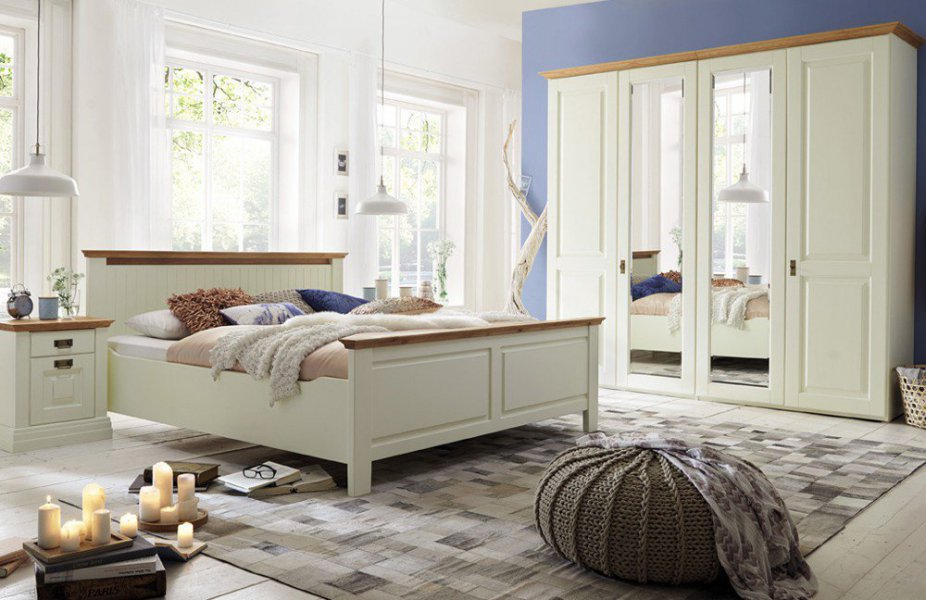Schlafzimmer Garnitur #20: Gomab Schlafzimmergarnitur Nordic Dreams Aus Massiver Polarkiefer In Creme