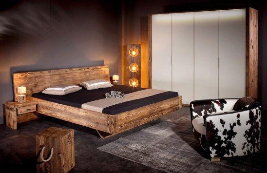 Sprenger Möbel Komplett-Schlafzimmer aus massivem Altholz der Tanne