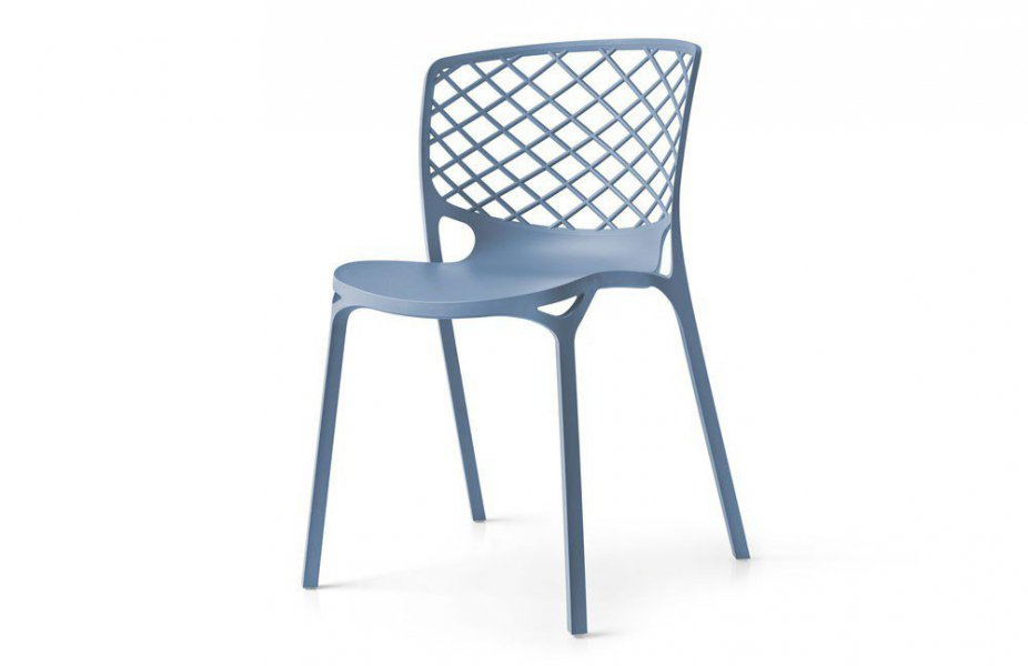 Gamera von connubia by calligaris - Stuhl blau matt