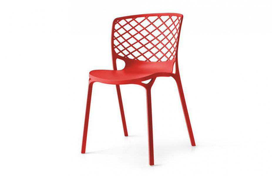 Gamera von connubia by calligaris - Stuhl rot matt