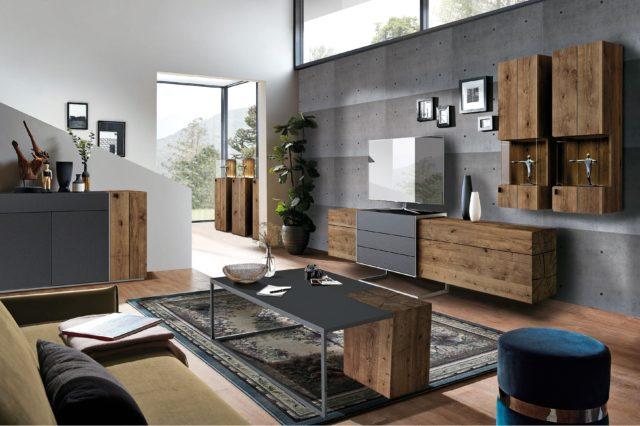 Wohnwand Media Massiv von Die Hausmarke aus Massivholz