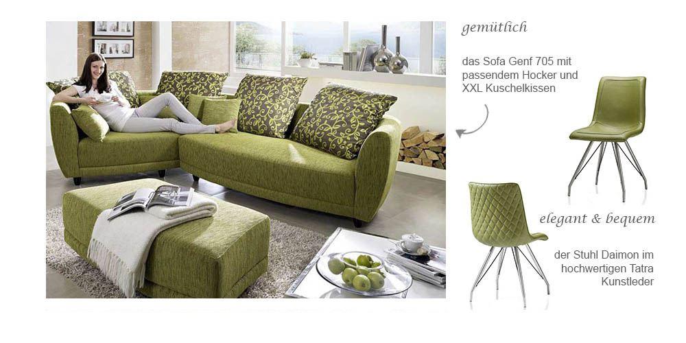 Sofa Genf 705 und Stuhl Daimon