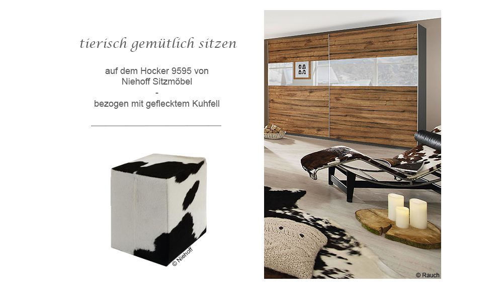 kuhfell tierisch sch n online m bel magazin. Black Bedroom Furniture Sets. Home Design Ideas