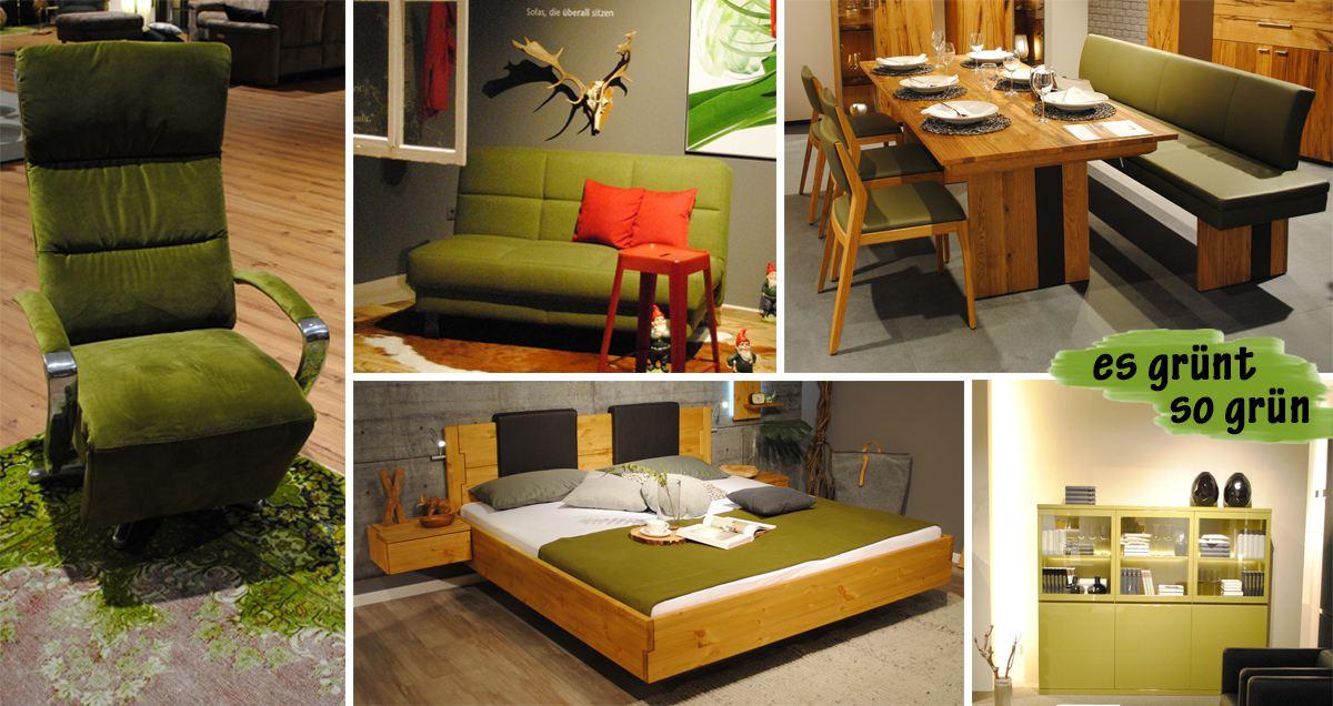 farbtrends 2017 gruen collage online m bel magazin. Black Bedroom Furniture Sets. Home Design Ideas
