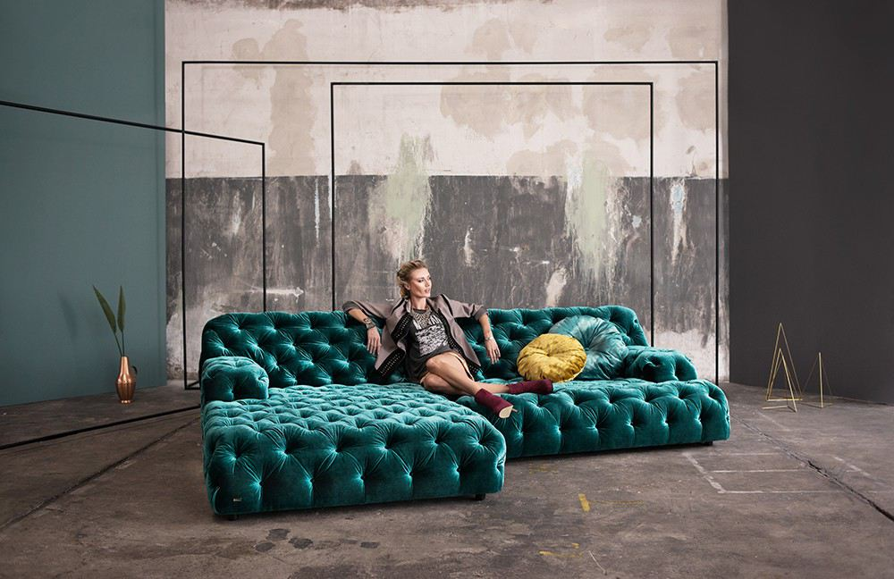 Bretz m bel leidenschaft in form und farbe online for Braunes ecksofa
