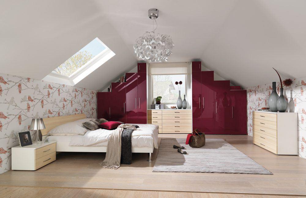 wohnen mit dachschr gen online m bel magazin. Black Bedroom Furniture Sets. Home Design Ideas