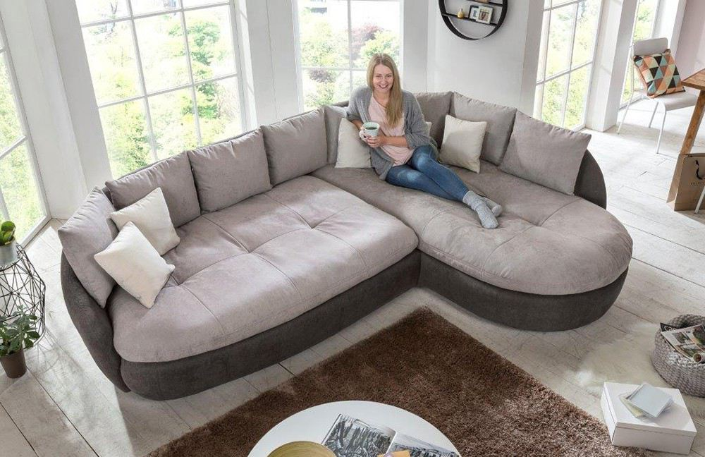 Big Sofa in Grau