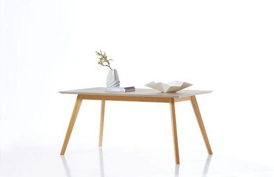 skandinavischer Esstisch Calvi von Germania mit grauer Tischplatte