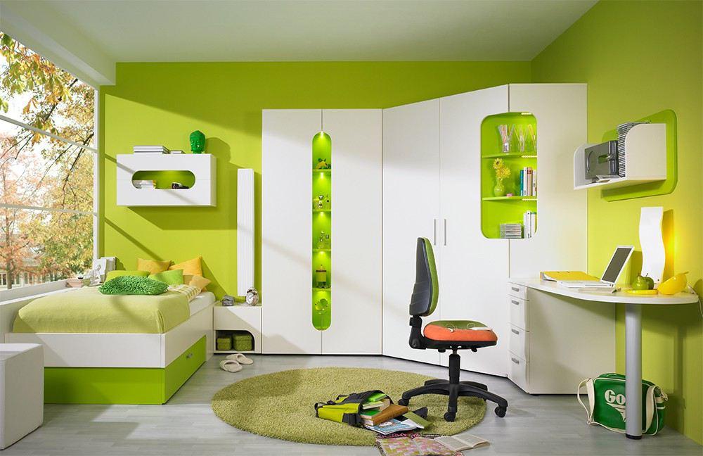 max-i von Rudolf - Jugendzimmer in Creme und frühlingsfrischem Leuchtgün
