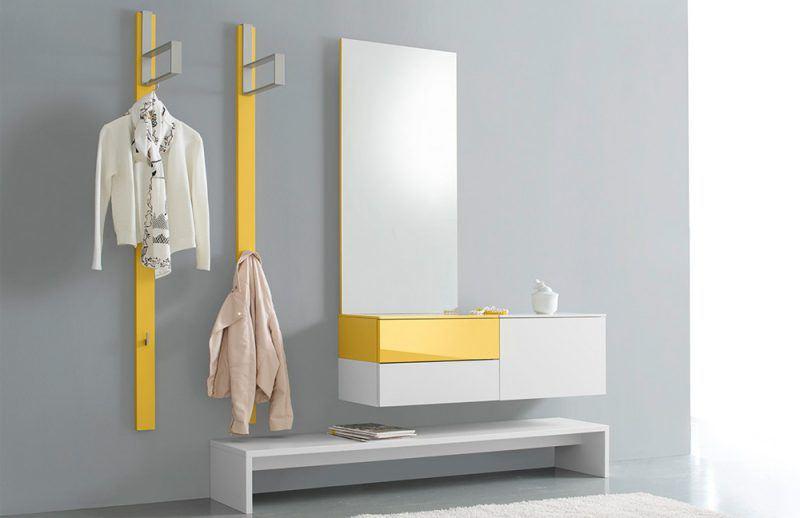 Bennett aus der Kollektion Letz - Garderobe in Gelb/Weiß