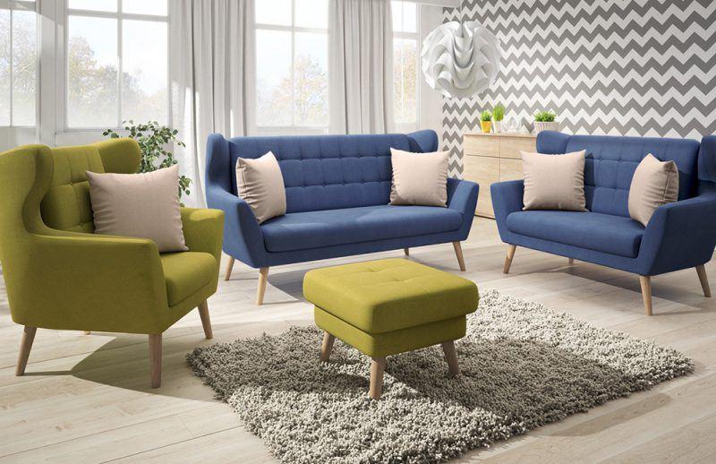 Henry von New Look - Sofagruppe in Aqua und Grün, den Farben des Frühlings