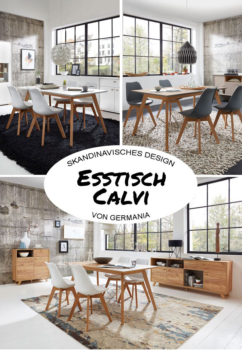 skandinavischer esstisch calvi von germania online m bel magazin. Black Bedroom Furniture Sets. Home Design Ideas