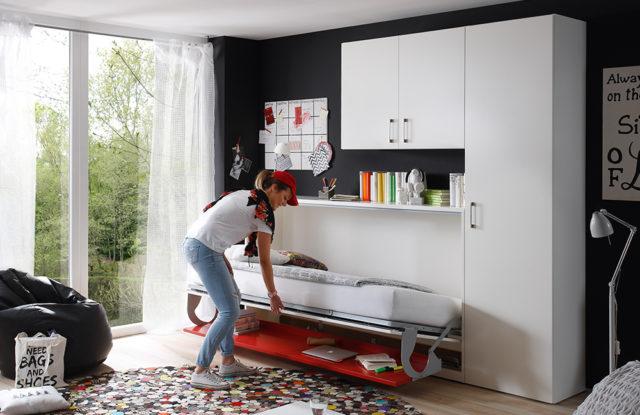 2weiraumwunder von Nehl - Schrankbett mit Schreibtischplatte