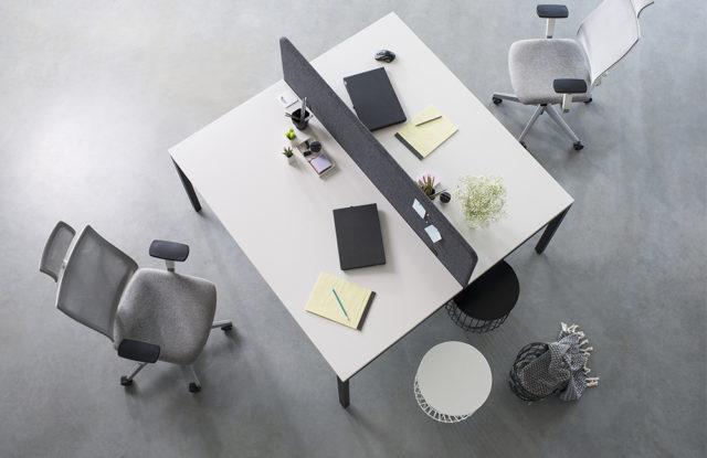 CS5040 von Nowy Styl - Workbench schwarz-weiß + Paneel