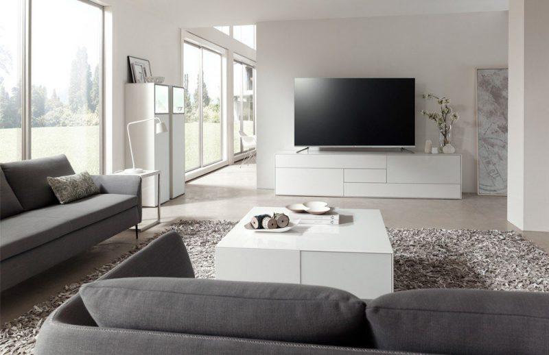 Lowboard NW 660 von Wöstmann Designmöbel in Bianco matt lackiert