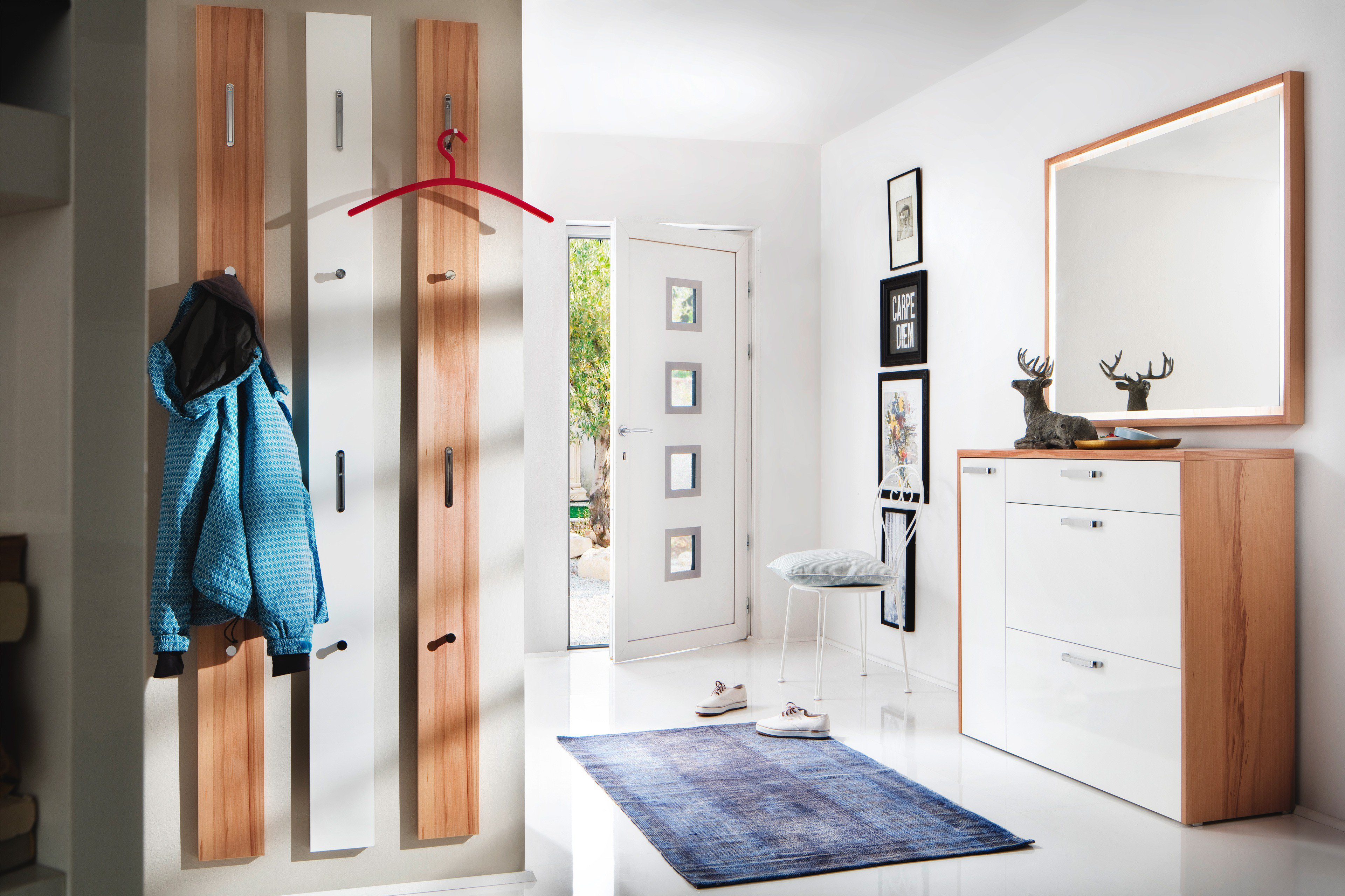 Schön Garderobenpaneel Buche Ideen Von Wittenbreder Garderobe Multi Color Wood