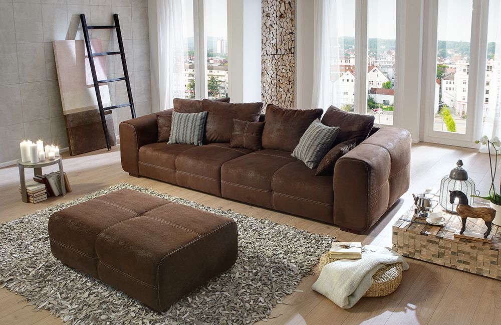 Big Sofa Leder Braun