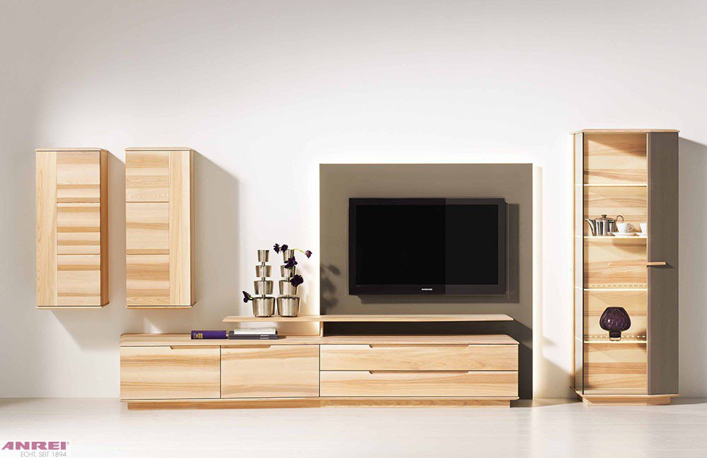 wohnwand elemente style. Black Bedroom Furniture Sets. Home Design Ideas