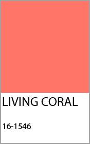 pantone living coral farbe 2019