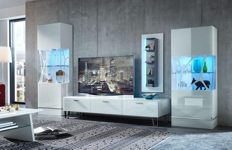 LEONARDO Living Wohnwand Weiß
