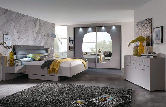 Atlanta Rauch Packs Schlafzimmer-Set pastell grau