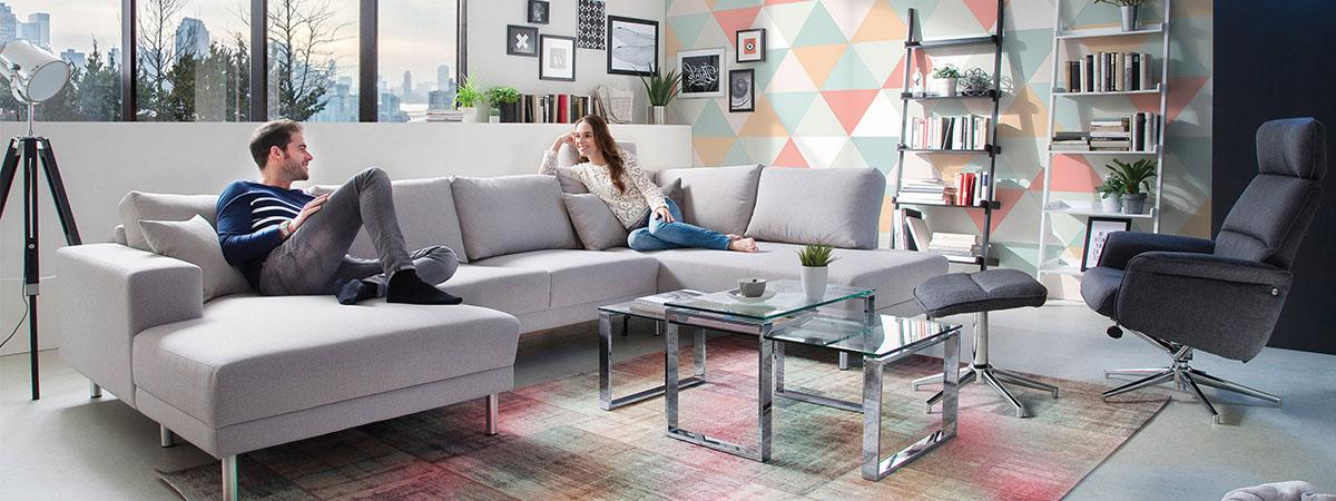 Familienfreundliche Sofas Candy Polstermöbel Slider