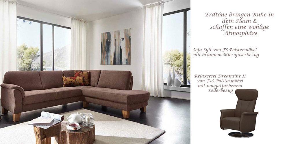 Sofa Sylt von FS Polstermöbel und Relaxsessel Dreamline II von FS Polstermöbel