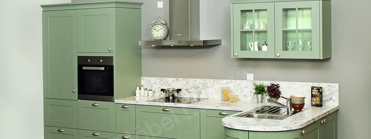 grüne Küche Schüller Slider