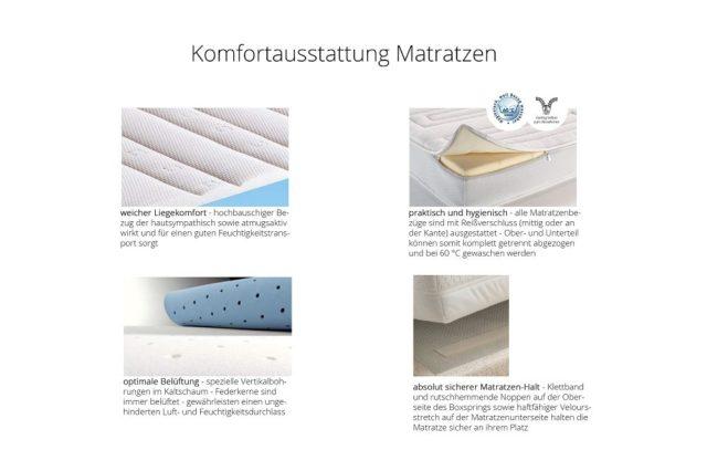 RUF|Betten: Komfortausstattung Matratzen