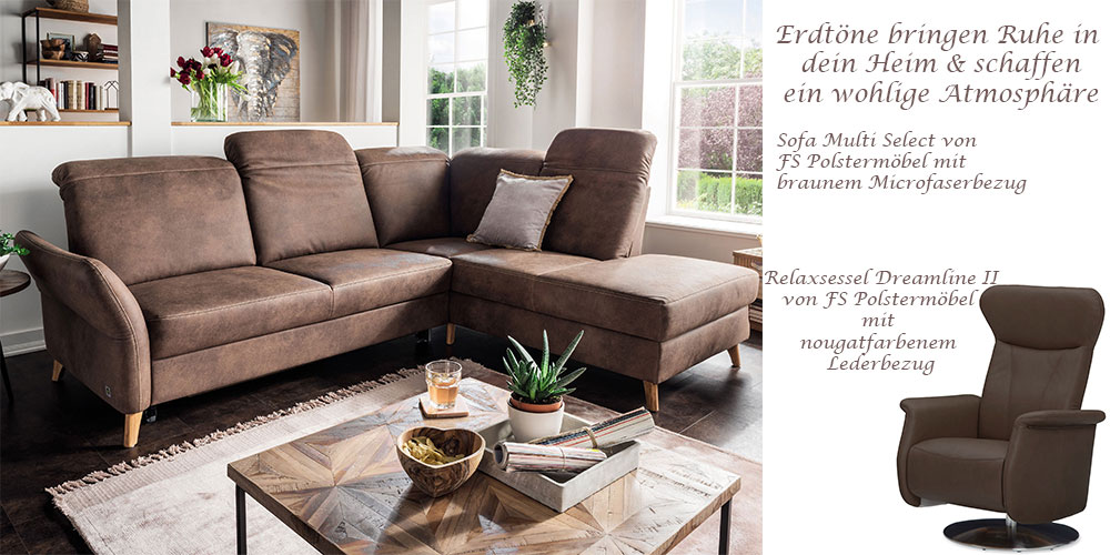 Sofa Multi Select von FS Polstermöbel und Relaxsessel Dreamline II von FS Polstermöbel
