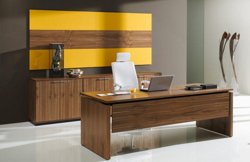 Edles Design mit Nussbaum-Furnier