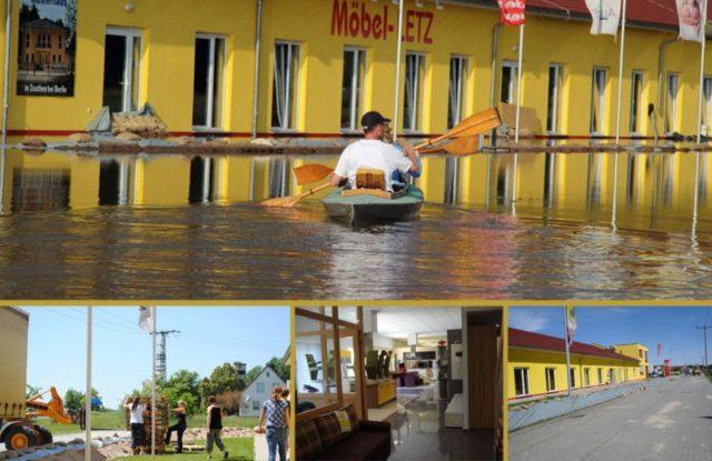 Möbel Letz | Möbelhaus im Hochwasser 2013